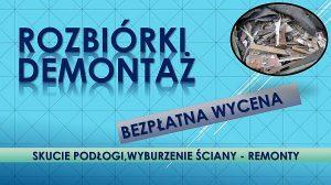Rozbiórka Wrocław.